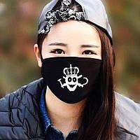 Многоразовые защитные маски (респираторы) на лицо с принтами
