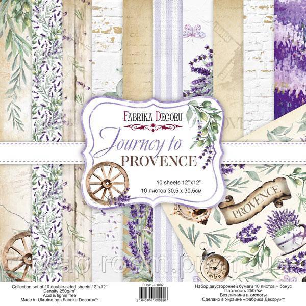 Набор скрапбумаги Journey to provence 30,5x30,5 см 10 листов Фабрика декора