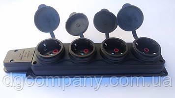 Колодка для подовжувача каучукова на 4 гнізда Alfa