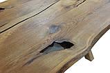 Слэб столешница дикий край дуб с эпоксидной смолой  2000х900х39  в наличии, фото 4