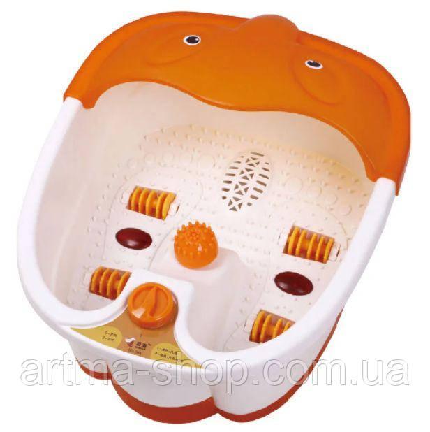 Гидромассажная ванна для ног Footbath Massager, ванночка для педикюра, массажер для ног Оранжевая
