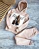 Теплый спортивный костюм с накаткой: худи и штаны на завязках (р. 42-44) 27msp1162