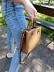 Кожаная женская сумка размером 23х18х8 см Коричневая (01244), фото 2