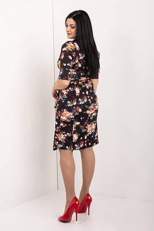 Стильное платье в цветочный принт, фото 2