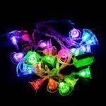 "Гирлянда светодиодная VENOM ""Колокольчик"" 20LED RGB, прозрачный провод (LS-BELL-20LED-WC-RGB), фото 2"