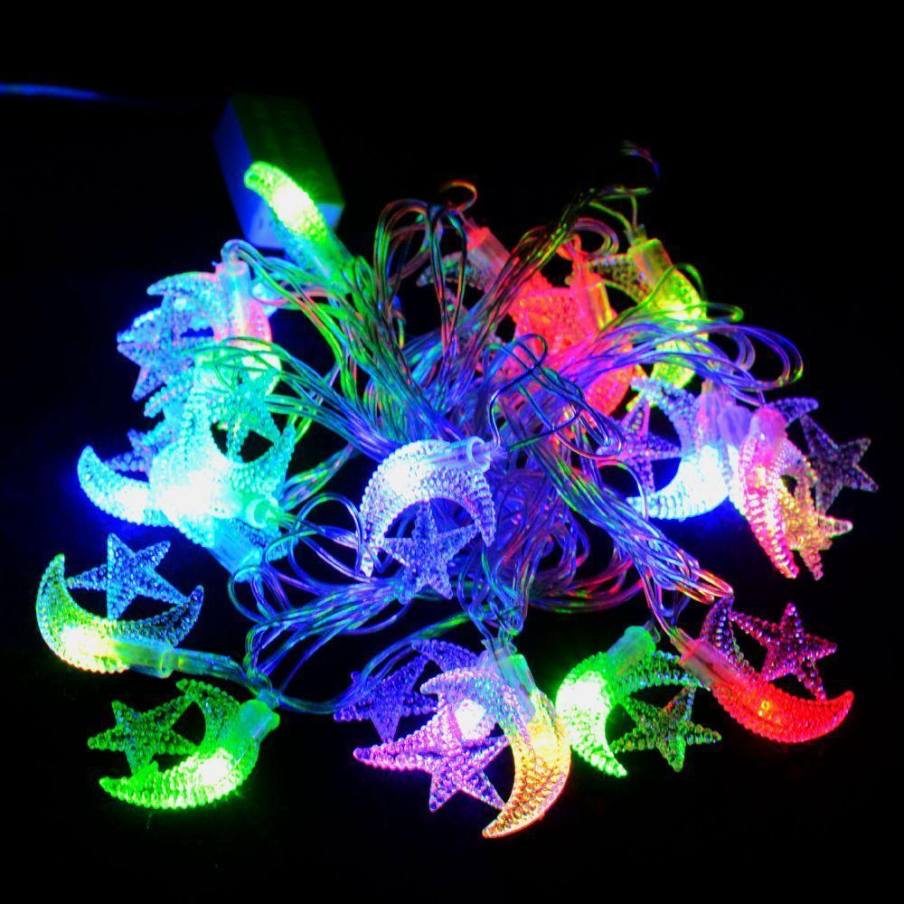 """Гирлянда светодиодная VENOM """"Полумесяц"""" 20LED RGB, прозрачный провод (LS-CRESCENT-20LED-WC-RGB)"""