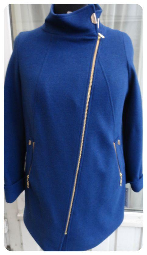 Напівпальто жіноче Almatti модель Про-146 яскраво-синє