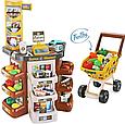 Дитячий супермаркет/магазин з візком. Сканер, ваги, гроші, фрукти/овочі 668-77 Т, фото 6