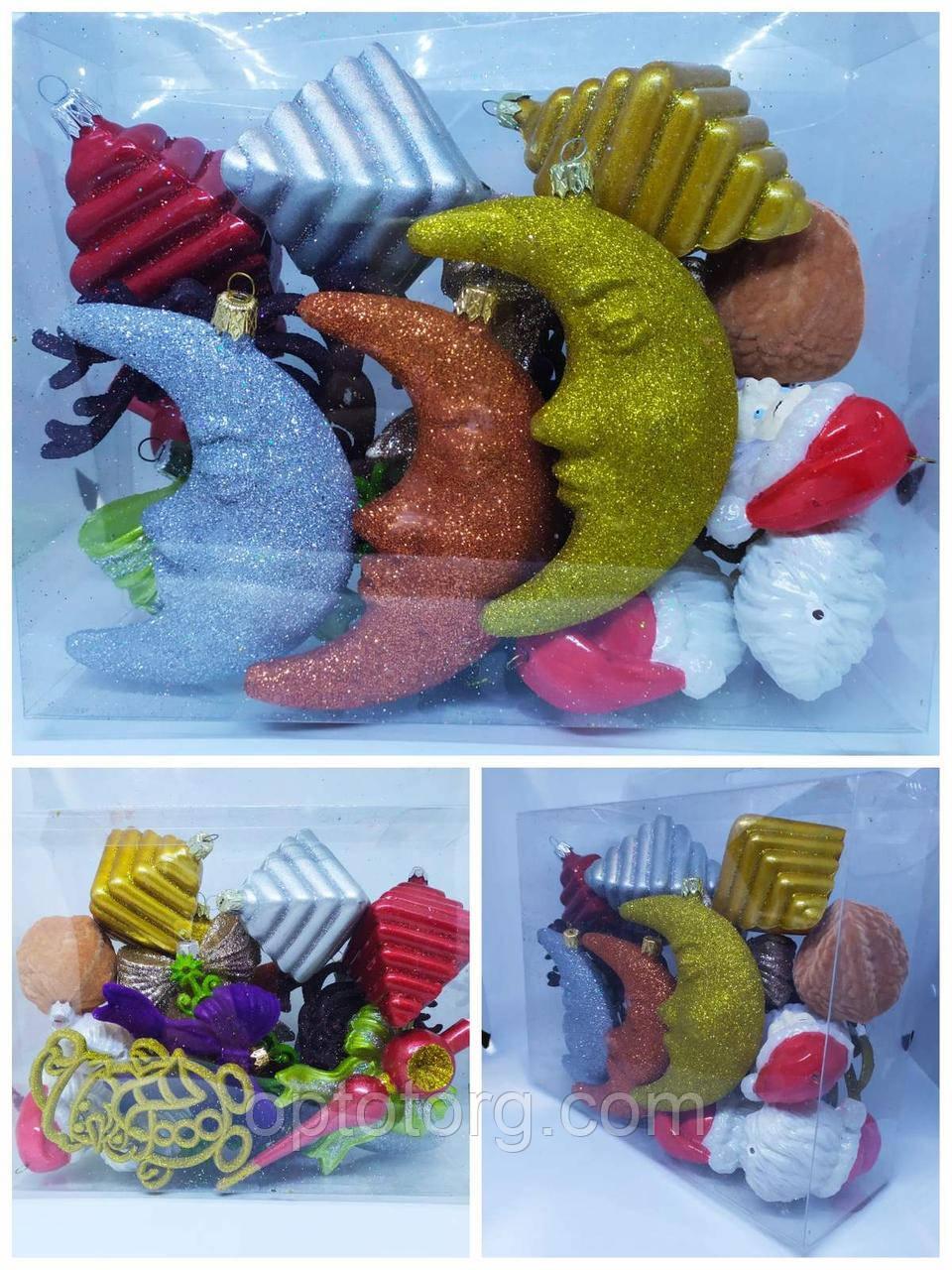 Новогодние игрушки  на елку набор 17 предметов