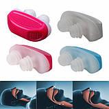 Фильтр для носа 2 в 1 Anti Snoring and Air Purifier-синий. Антихрап, фото 2