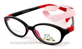 Детская пластиковая оправа BomiBear 8113-C94 Черный красный