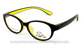 Детская пластиковая оправа BomiBear 6221 Черный желтый