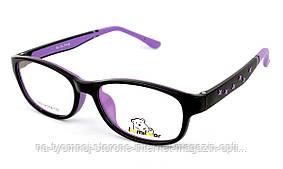 Детская пластиковая оправа BomiBear 6209 Черный фиолетовый