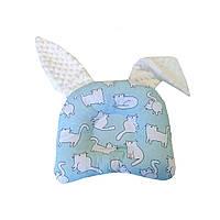 Подушка анатомічна дитяча для немовлят з вушками Коти на м'ятному
