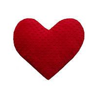 Подарунок коханим подушка-серце з плюшу Minky (мінкі) 40Х40см