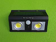 Уличный светодиодный настенный фонарь-светильник CL-5066B /2400mAh на солнечных батареях (с датчиком движения), фото 1