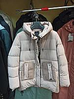 Модная зимняя женская куртка с овчиной Mishele 21110 44-52 размер, фото 1
