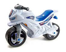 Мотоцикл музичний Оріон білийий толокар каталка