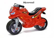 Мотоцикл музичний Оріон червоний червоний толокар каталка