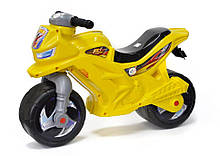 Мотоцикл Оріон лимонний жовтий беговел толокар каталка