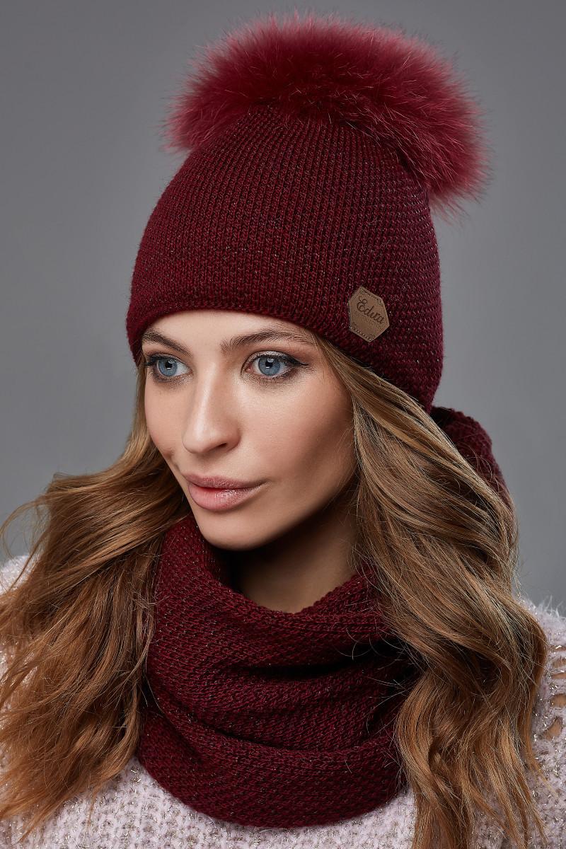 Зимовий жіночий комплект Тея Бордовий