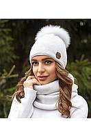 Зимовий жіночий комплект Тея білий, фото 1