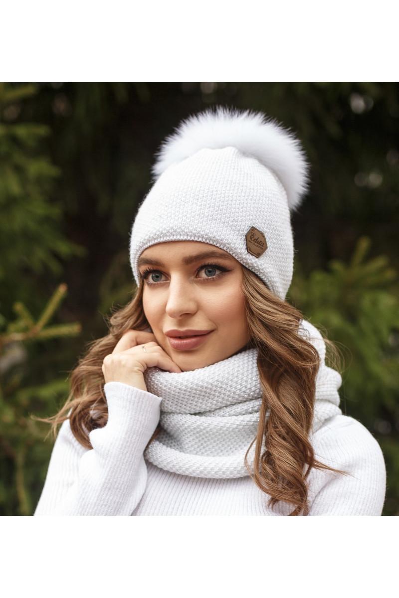Зимовий жіночий комплект Тея білий