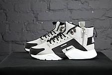 Мужские демисезонные кроссовки в стиле Nike Huarache Acronym Concept Grey серые, фото 3