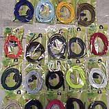 Шнурки гумки кольори білий, чорний,червоний, салатовий, фото 2
