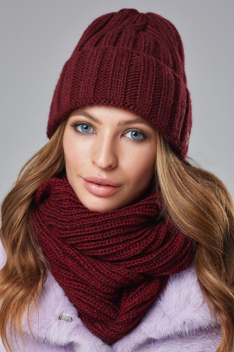 Зимовий жіночий комплект Стелла Бордовий