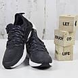 Модные кроссовки мужские замшевые черные Стильные повседневные мужские кроссовки из замши Размер 41 - 46, фото 2