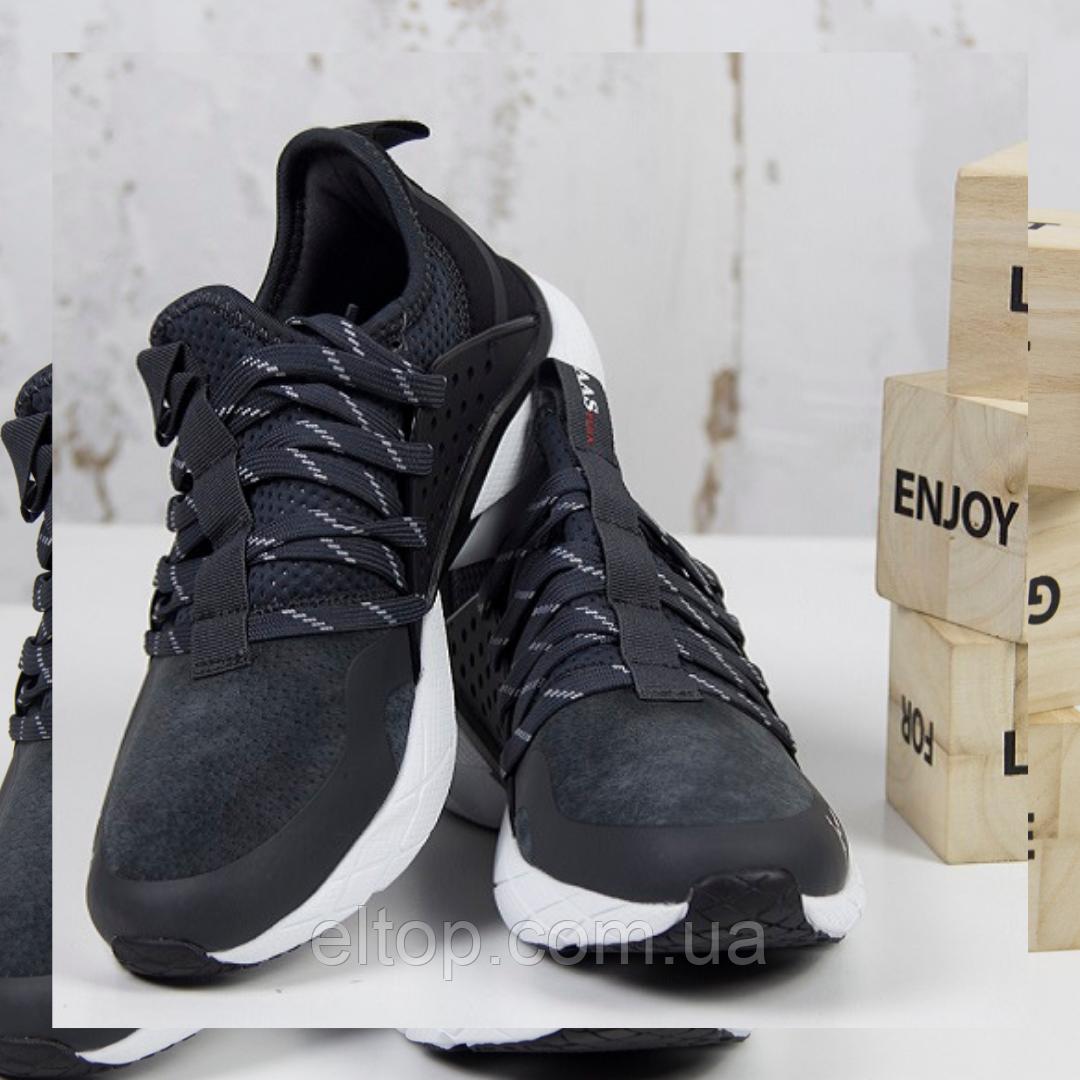 Модные кроссовки мужские замшевые черные Стильные повседневные мужские кроссовки из замши Размер 41 - 46