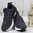 Модные кроссовки мужские замшевые черные Стильные повседневные мужские кроссовки из замши Размер 41 - 46, фото 3