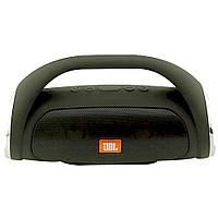 Портативная Bluetooth колонка JBL Boombox mini ЧЕРНАЯ + ПОДАРОК:Нескользящий коврик для телефона. Размер 11*9
