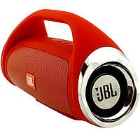 Портативная Bluetooth колонка JBL Boombox mini КРАСНАЯ + ПОДАРОК:Нескользящий коврик для телефона. Размер