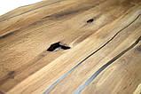 Слэб столешница  дикий край дуб с эпоксидной смолой  2000х1000х40  в наличии, фото 3