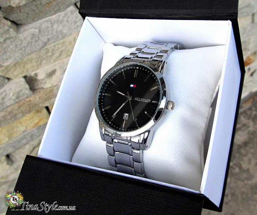 Супермодные кварцевые мужские наручные часы Tommy Hilfiger Копія Аналог