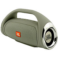 Портативная Bluetooth колонка JBL Boombox mini СЕРАЯ + ПОДАРОК: Держатель для телефонa L-302
