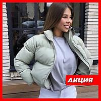 Женская осенняя короткая курточка черная красная бежевая серая белая горчичная как42 44 46 на синтепоне куртка