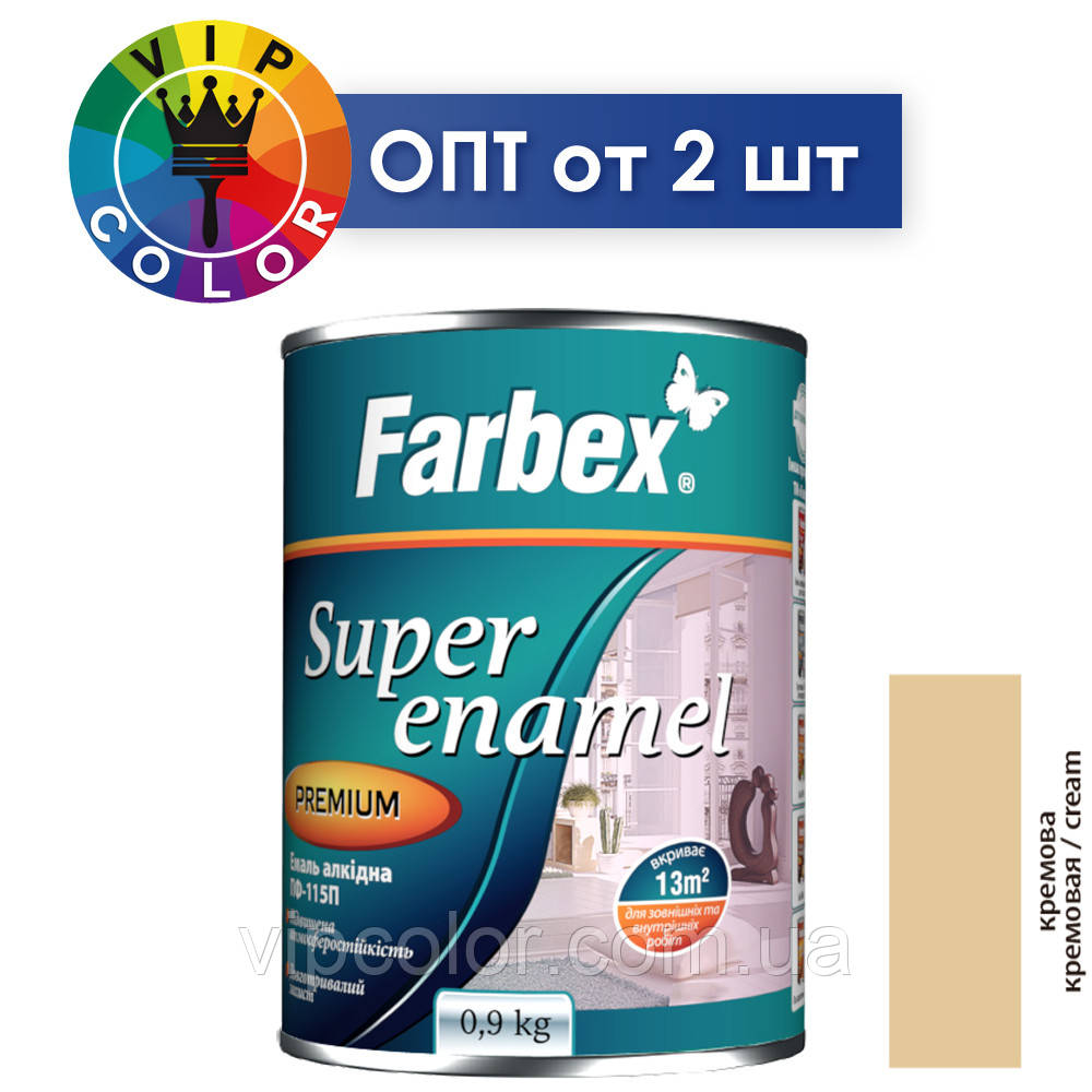 Farbex эмаль алкидная ПФ-115П - кремовая, 2.8 кг