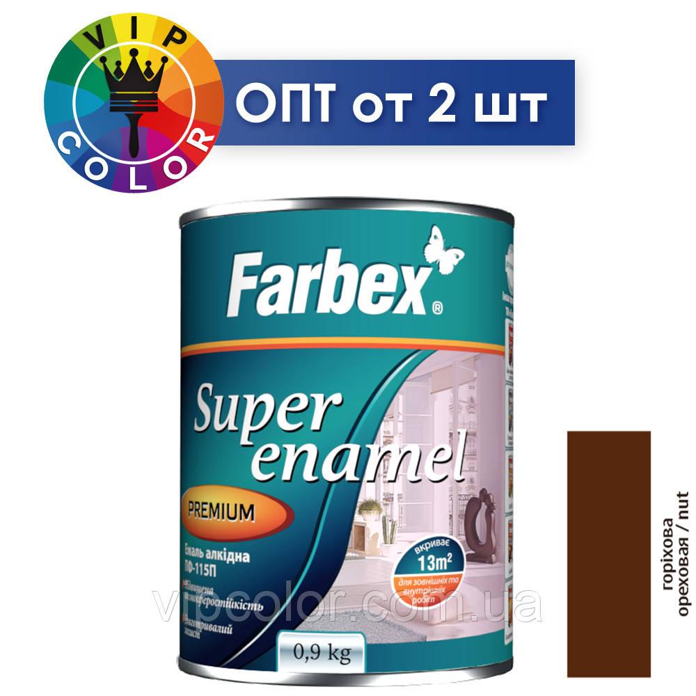 Farbex эмаль алкидная ПФ-115П - ореховая, 2.8 кг