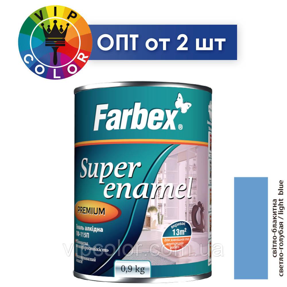 Farbex емаль алкідна ПФ-115П - світло-блакитна, 2.8 кг