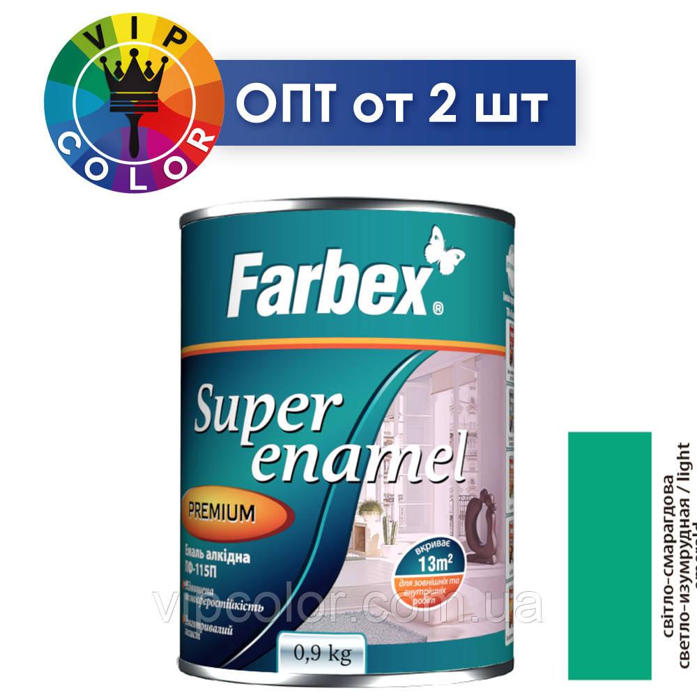 Farbex эмаль алкидная ПФ-115П - светло-изумрудная, 2.8 кг