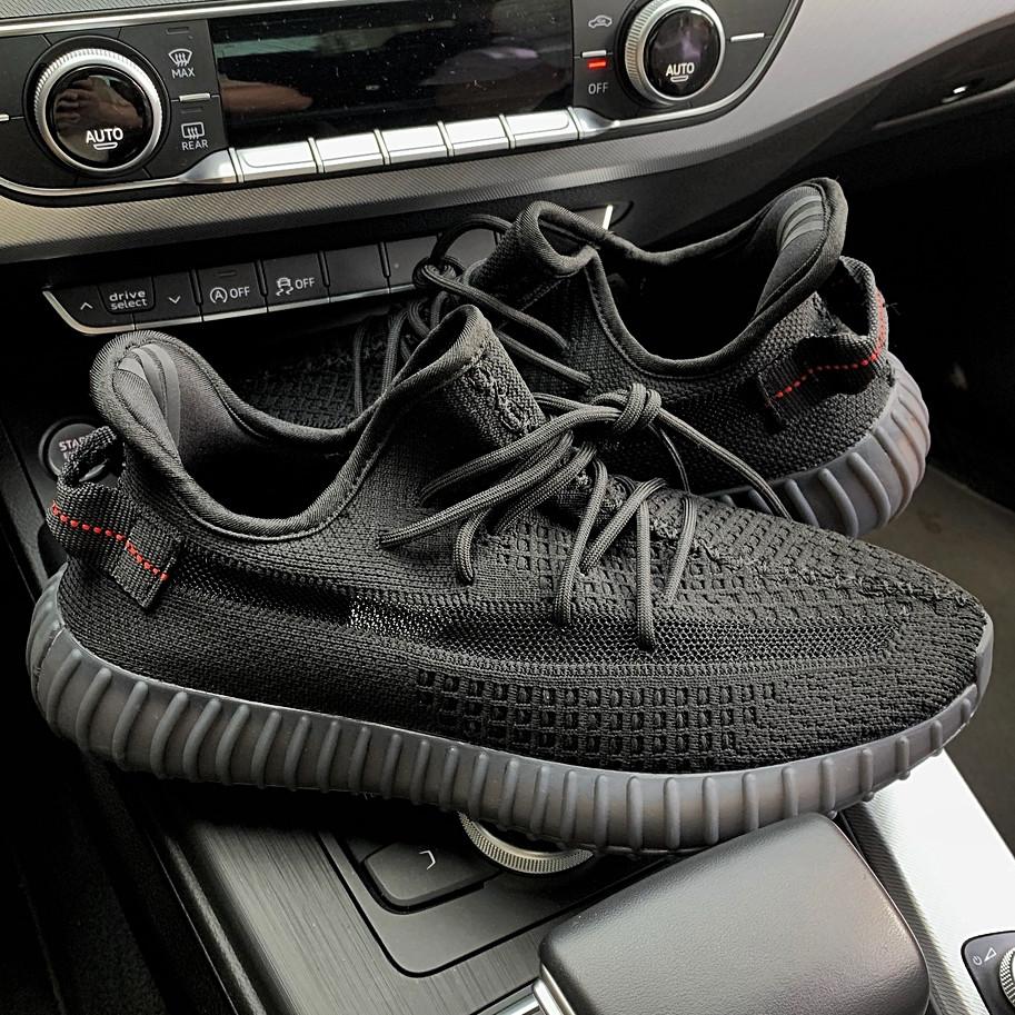 Мужские кроссовки в стиле Adidas Yeezy Boost 350 Triple Black