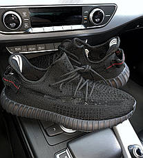 Мужские кроссовки в стиле Adidas Yeezy Boost 350 Triple Black, фото 2