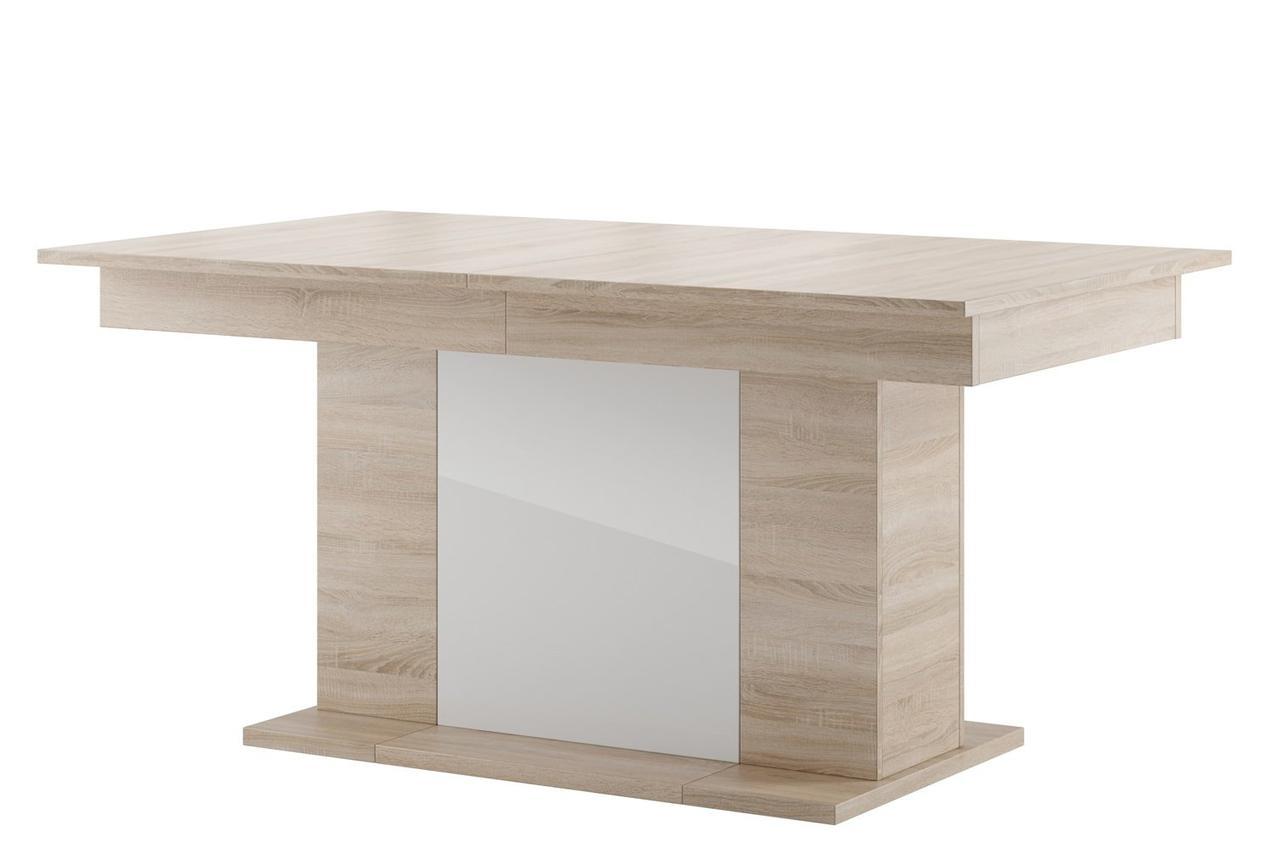 Стол обеденный деревянный STAR 6 Szynaka дуб сонома/белый глянец