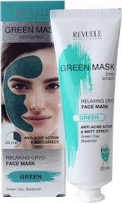 Revuele Green Face Mask маска для лица  Anti-Acne Green Face Mask Cryo Effect