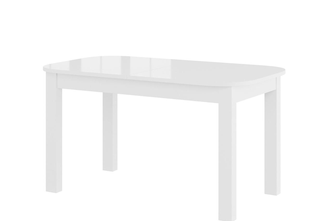 Стол обеденный деревянный REA Szynaka белый глянец