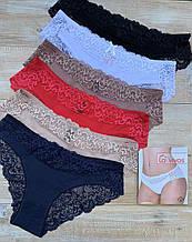 Трусики женские La Vivas 10153 кружевные, цвет Красный, размер XXL