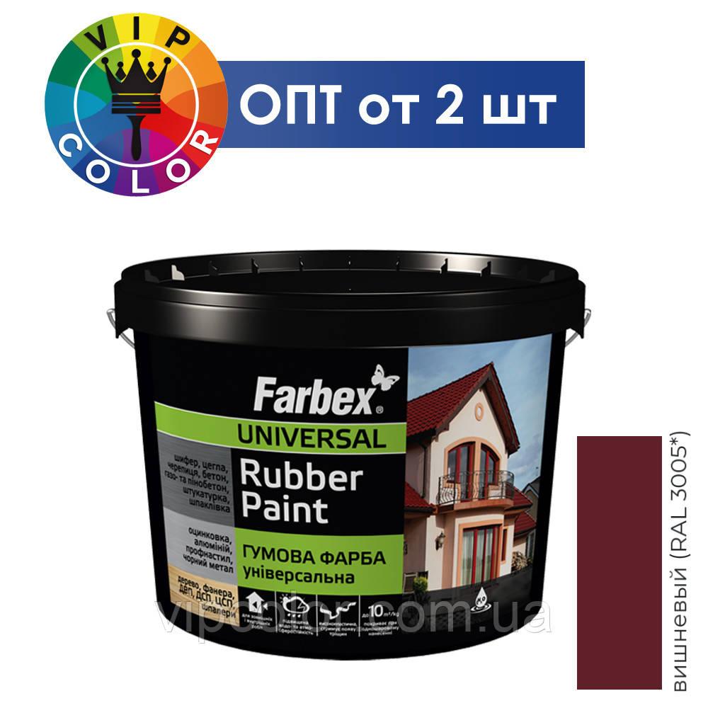 Farbex краска резиновая универсальная - вишневый, 12 кг